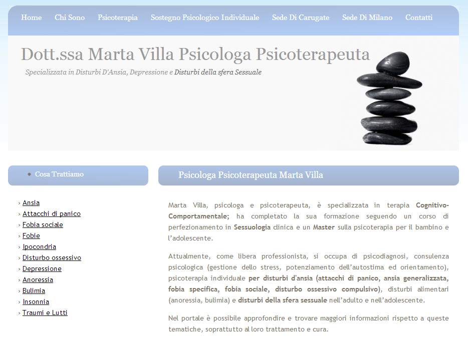 Dott.ssa Marta Villa Psicologa Milano