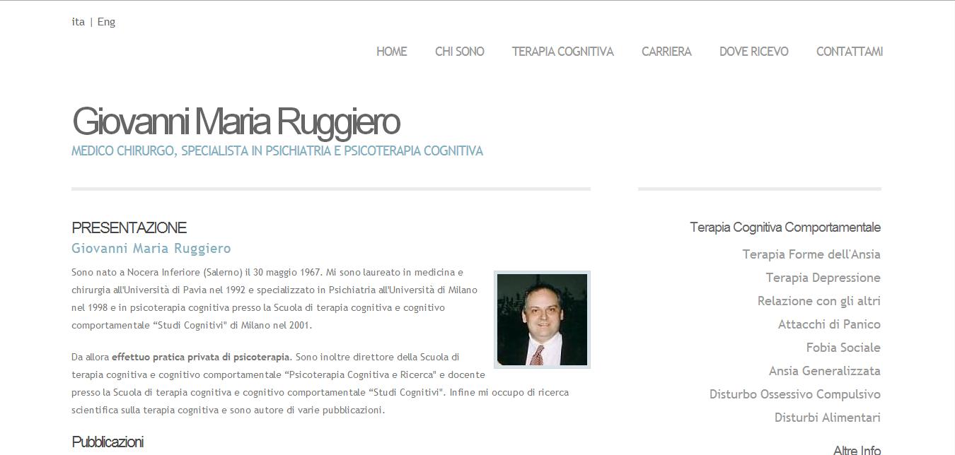 Giovanni Maria Ruggiero Sito Personale