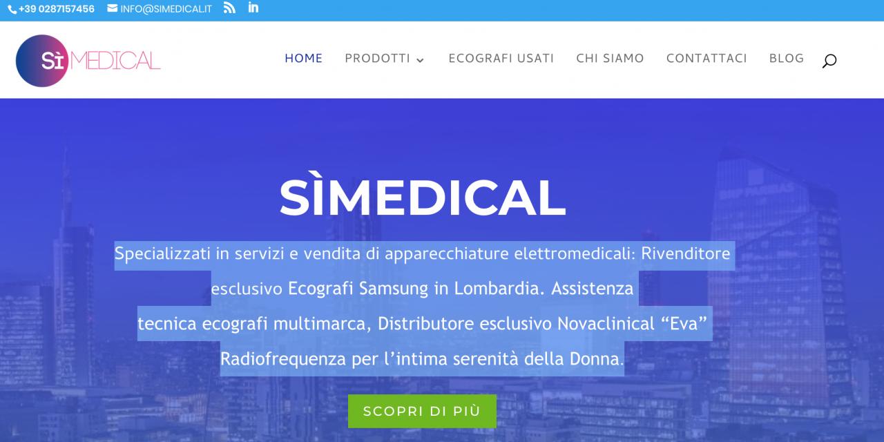 Realizzazione Sito Web Simedical