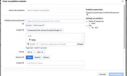 Crea un pubblico su Facebook per uno studio di psicologia